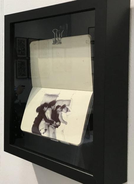 Nicolas V. Sanchez Sketchbook from artist's commute 2017 Ballpoint pen in moleskin notebook 3 1/2 x 5 1/2 inches
