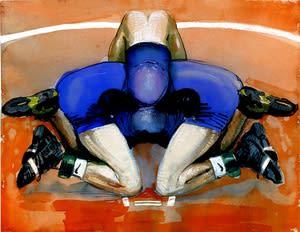 Joseph Peragine, Grappling Mandala: Blue Orange, 2012