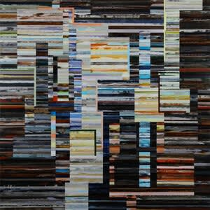 Scott Eakin, Blue Asphalt, Ink, and Wire, 2019