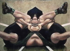 Joseph Peragine, Grappling Mandala: Green Cradle, 2013