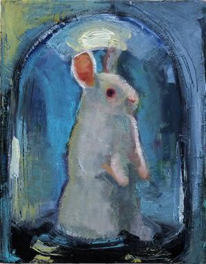 Joseph Peragine, Bunny in Blue Bell Jar, 2015