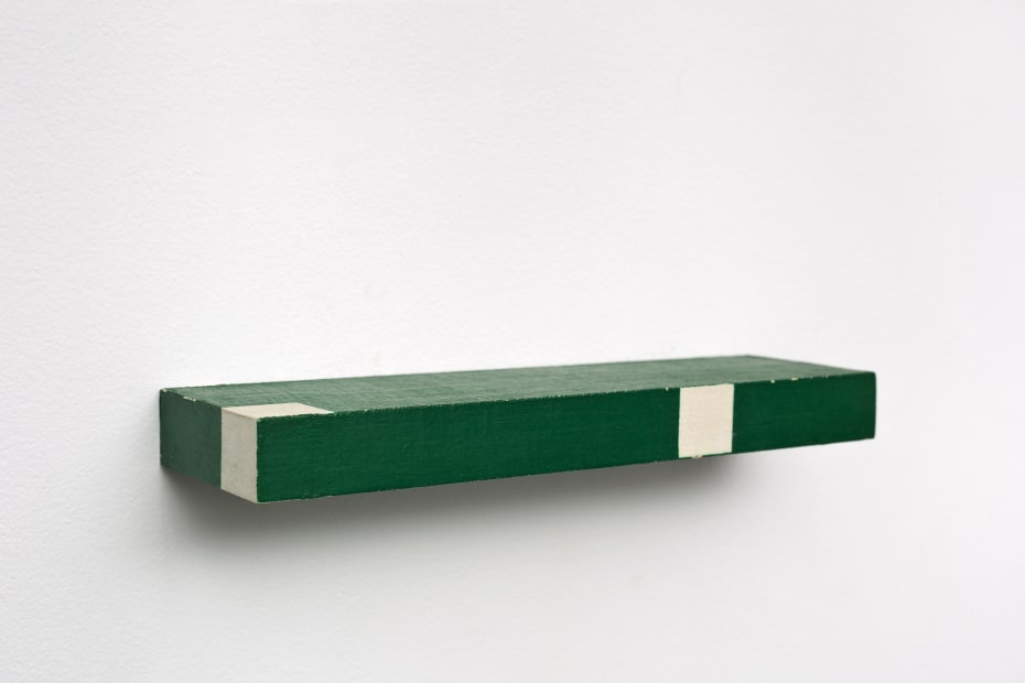 Active Object (Objeto ativo), 1961, Oil on canvas over wood, 2.2 x 22.9 x 6.7 cm