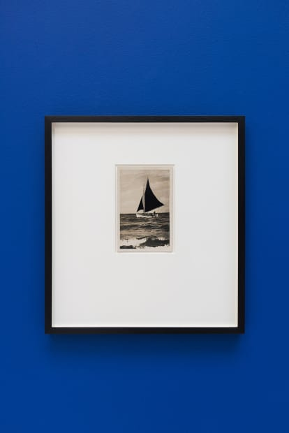 De velas y rumores estrellados [Of Sails and Starry Rumours] N. 6, 2017. Collage, 35.5 x 32.5 cm (postcard dimensions 8.4 x 3.5 cm)