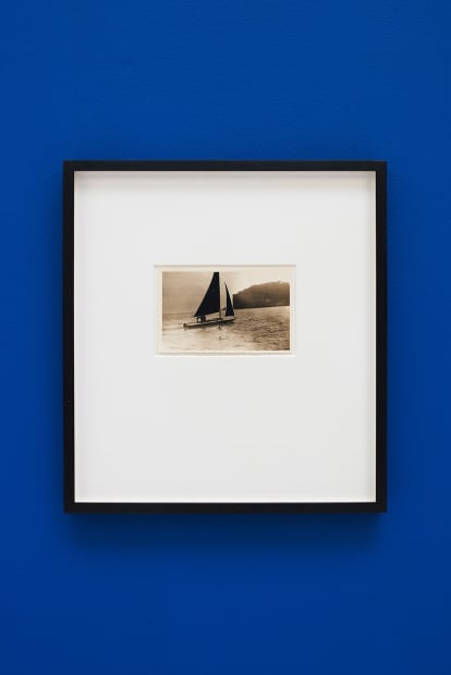 De velas y rumores estrellados [Of Sails and Starry Rumours] N. 10, 2017. Collage, 35.5 x 32.5 cm (postcard dimensions 8.4 x 3.5 cm)