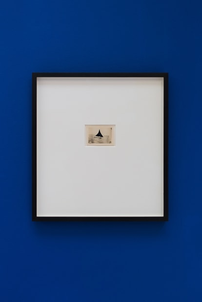De velas y rumores estrellados [Of Sails and Starry Rumours] N. 7, 2017. Collage, 35.5 x 32.5 cm (postcard dimensions 8.4 x 3.5 cm)