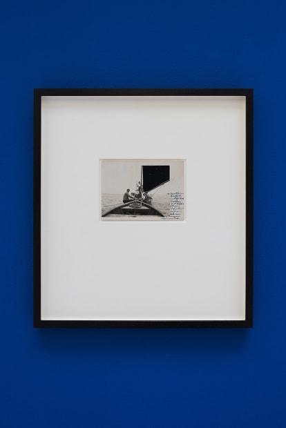 De velas y rumores estrellados [Of Sails and Starry Rumours] N. 8, 2017. Collage, 35.5 x 32.5 cm (postcard dimensions 8.4 x 3.5 cm)