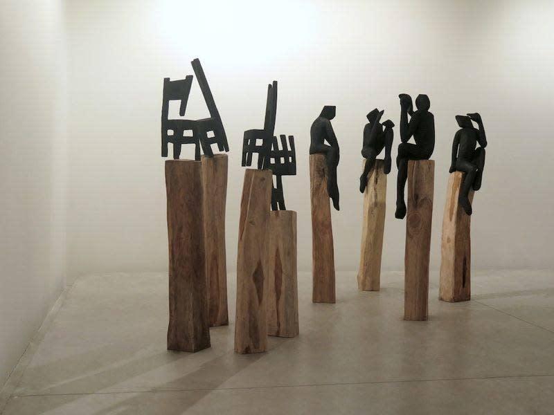 """Exposition """"No man's land"""" à la Galerie Cécile Fakhoury à Abidjan 2015 © Jems Koko Bi"""