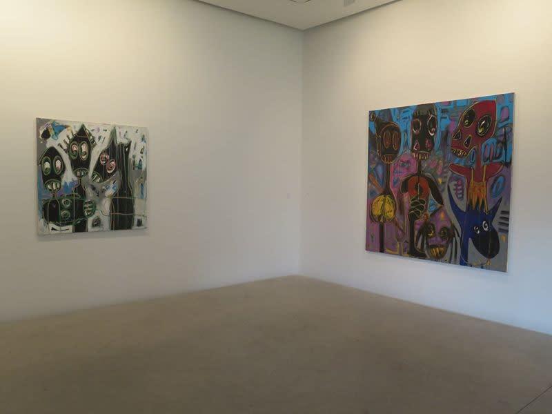 """Exposition """"Môgô Dynasty"""" à la Galerie Cécile Fakhoury à Abidjan 2016 © Aboudia"""