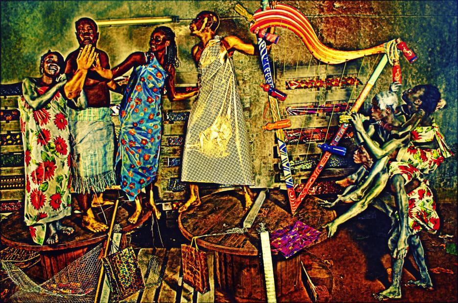 L'appel de Lilian #3, 2012, impression photographique montée sur caisson lumineux © Paul Sika