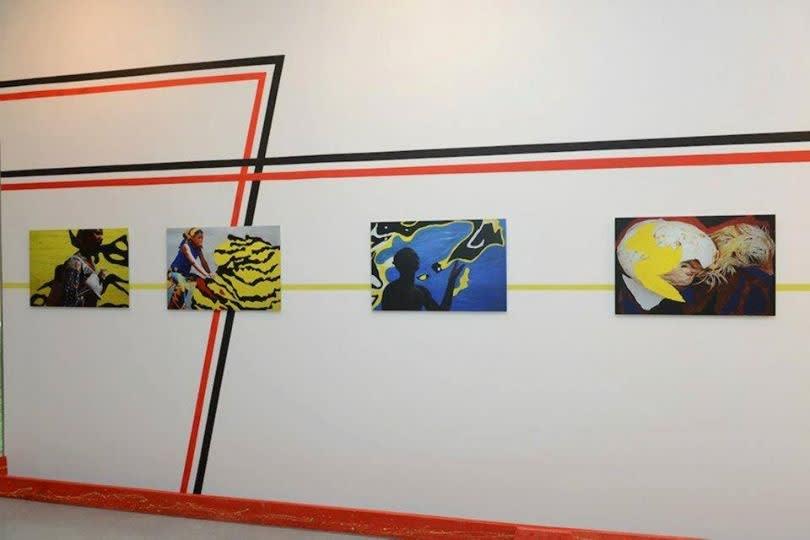 """Exposition """"Ondes de perturbation"""" à la Galerie Cécile Fakhoury à Abidjan 2013 © Nestor Da"""