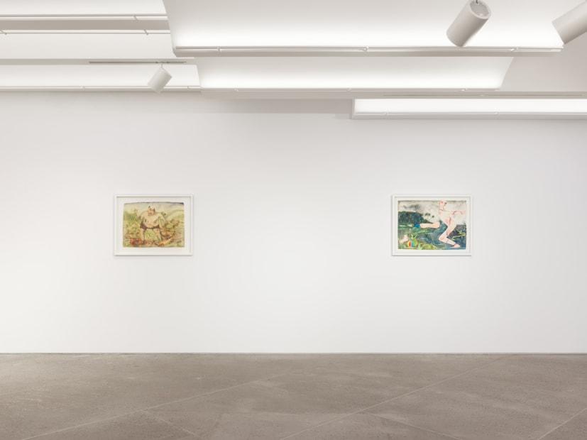 Vangelis Pliarides Travelling Watercolors 2007-2017, 2018 Installation view at Christine Park Gallery, New York Courtesy of the Artist and Christine Park Gallery © Vangelis Pliarides