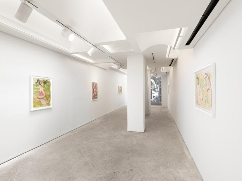 Vangelis Pliarides Travelling Watercolors 2007-2017, 2018 Installation view at Christine Park Gallery, New York Courtesy the Artist and Christine Park Gallery © Vangelis Pliarides