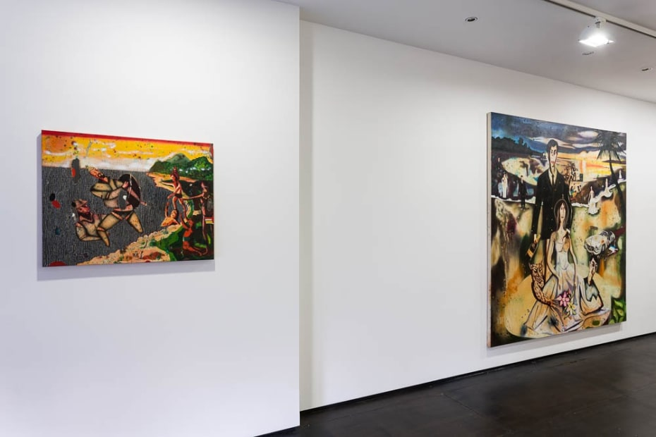 Vangelis Pliarides Installation View at Christine Park Gallery, London, 2014 Courtesy of the Artist and Christine Park Gallery © Vangelis Pliarides