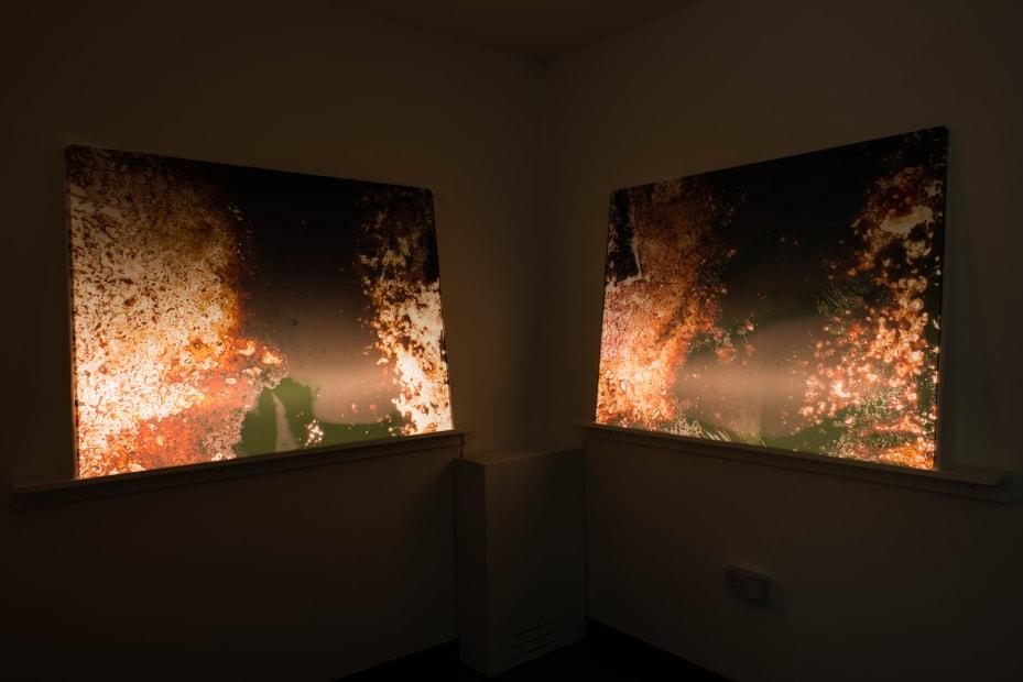 Hangjun Lee Nebula Rising, 2015 Installation View at Christine Park Gallery, London Courtesy of the Artist and Christine Park Gallery © Hangjun Lee