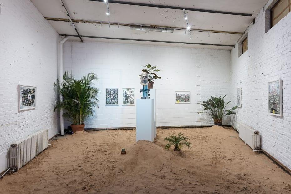 Ting Tong Chang North Indies - Pilot Installation View at Apiary Studios, London Courtesy of the Artist and Christine Park Gallery © Ting Tong Chang