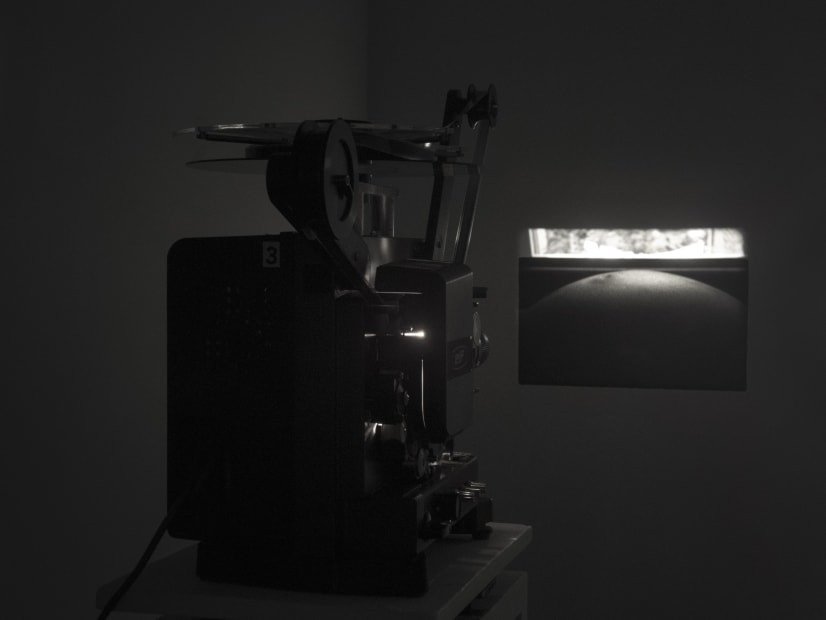Guy Sherwin Breathing #2, 2016 (1978) Installation for 16mm projector, paint, 3 minute film loop (GSN007)