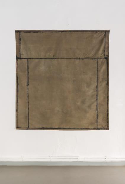 JEAN-PIERRE PINCEMIN Sans Titre, 1974 Acrylique sur toile libre / Acrylic on free canvas 198 x 190 cm / 78...