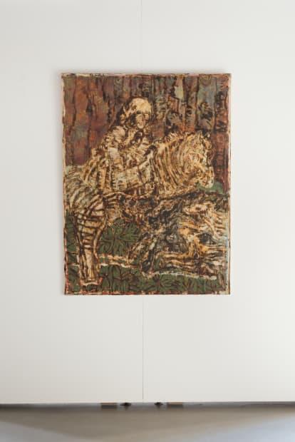 JEAN-PIERRE PINCEMIN Sans Titre, 1996 Technique mixte sur toile / Mixed technique on canvas 160 x 132 cm / 63...