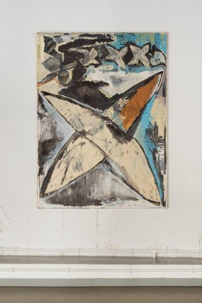 JEAN-PIERRE PINCEMIN Etoile, année de l'Inde, 1986 Huile sur toile / Oil on canvas 201 x 160 cm / 79...