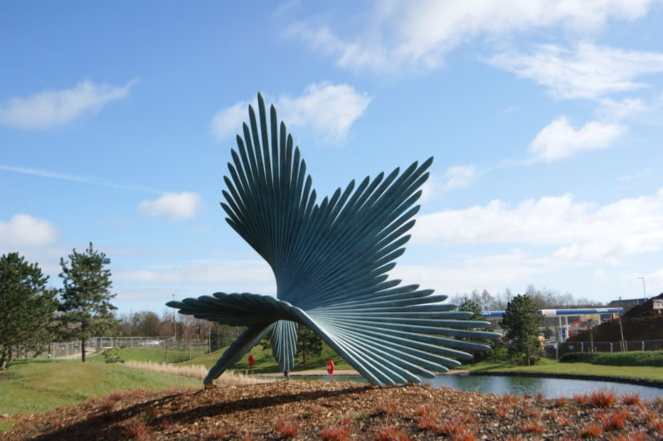Charlotte Mayer Truning Monumental in situ at Bicester Office Park.