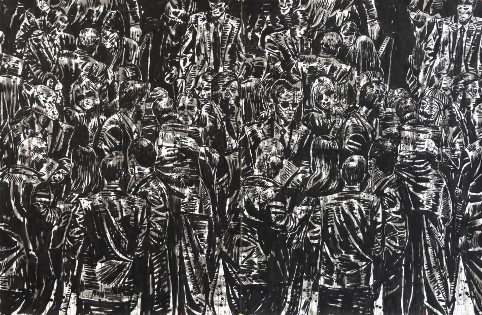 Nicky Nodjoumi, Engaged Crowd, 2015