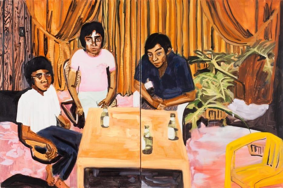 Maia Cruz Palileo, Uncles Drinking Beer II, 2013