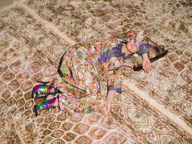 M Napping On Carpet, 2016
