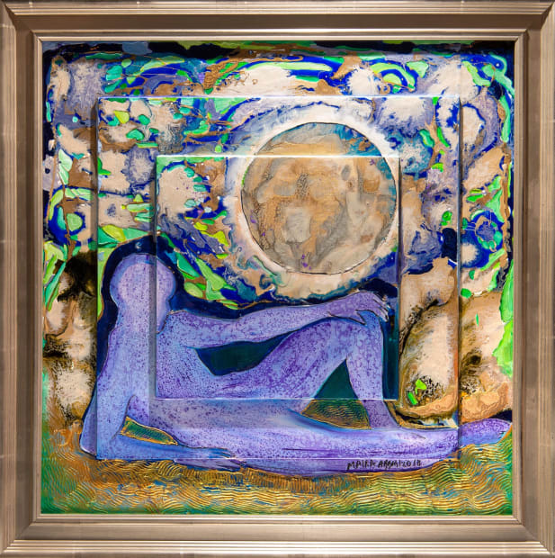 PENSIVE MOOD I 24x24 Oils and Mixed Media on Three dimensional wood panel Framed 28x28 Click to Zoom PRICE UPON REQUEST