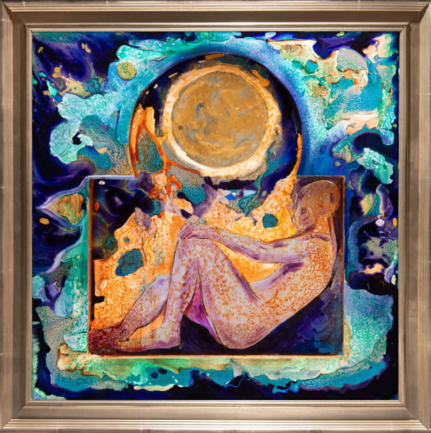 PENSIVE MOOD II 24x24 Oils and Mixed Media on Three dimensional wood panel Framed 28x28 Click to Zoom PRICE UPON REQUEST