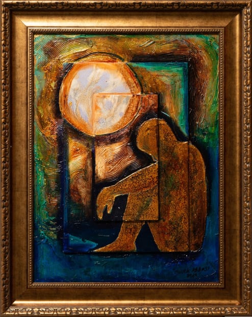 SOLITUDE 18x24 Oils and Mixed Media on Three dimensional wood panel Framed 24x30 Click to Zoom PRICE UPON REQUEST