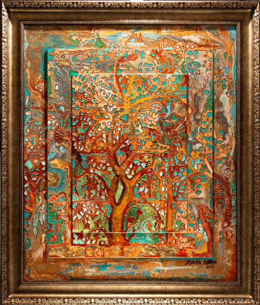 OXIDIZED TREE OF LIFE 30x36 Oils and Mixed Media on Three dimensional wood panel Framed 36.6x42 Click to Zoom PRICE UPON REQUEST