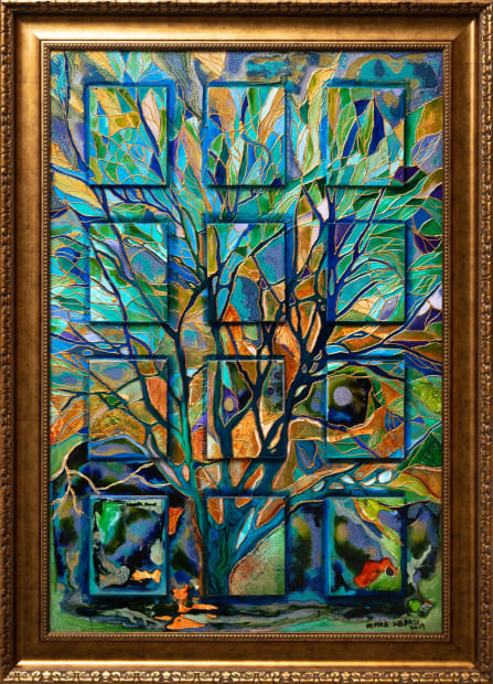 Rain Forest 24x36 Oils and Mixed Media on Three dimensional wood panel Framed 30x42 Click to Zoom PRICE UPON REQUEST