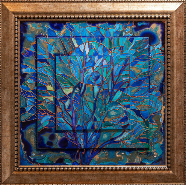 Midsummer Night 24x24 Oils and Mixed Media on Three dimensional wood panel Framed 30.6x 36.6 Click to Zoom PRICE UPON REQUEST