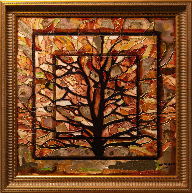 From The Earth it Grows 24x24 Oils and Mixed Media on Three dimensional wood panel Framed 30x30 Click to Zoom PRICE UPON REQUEST