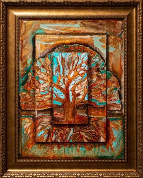Enchanted Forest 18x24 Oils and Mixed Media on Three dimensional wood panel Framed 24x30 Click to Zoom PRICE UPON REQUEST