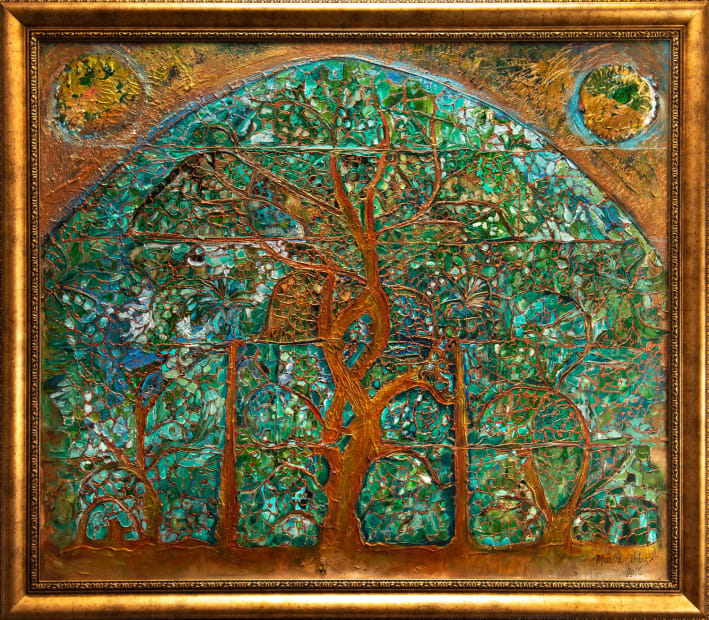 Emerald Forest 48x36 Oils and Mixed Media on Wood panel Framed 54x42 Click to Zoom PRICE UPON REQUEST