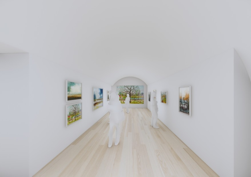 Computer visuals of the interior of the Whitcomb Street gallery, by WilkinsonEyre