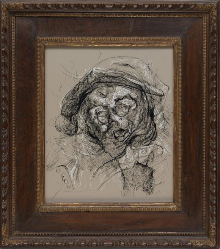 Glenn Brown, Drawing 24 (after Jordaens/Jordaens), 2017