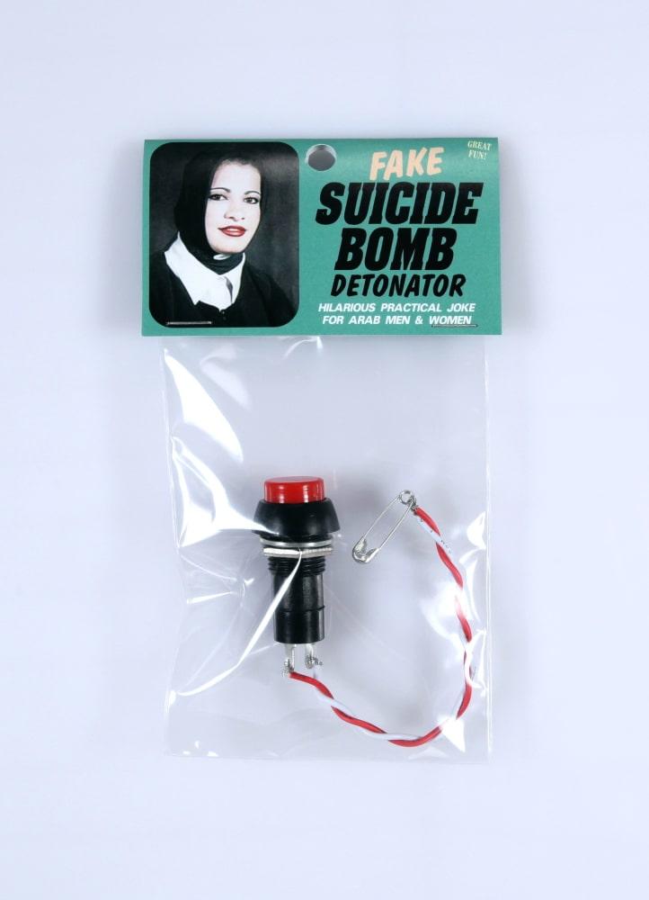 Fake suicide bomb detonator
