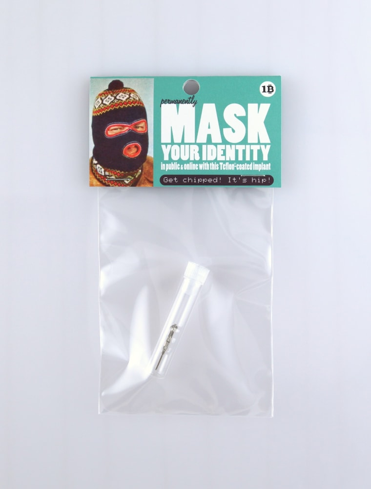 Jesus Had A Sister Productions, Mask your identity in public and online with this Teflon-coated implant, 2016