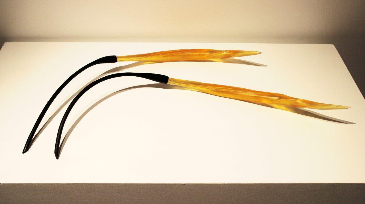 Small Pair of Twisted Flax Pods