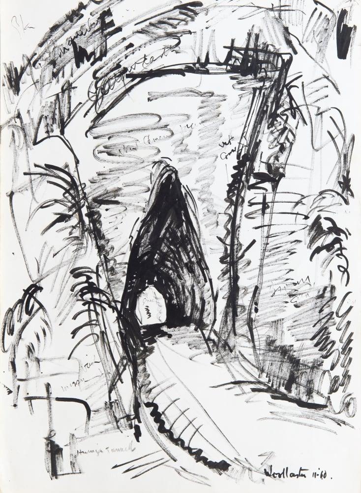 Mountford Tosswill Woollaston, Huinga Tunnel, 1960