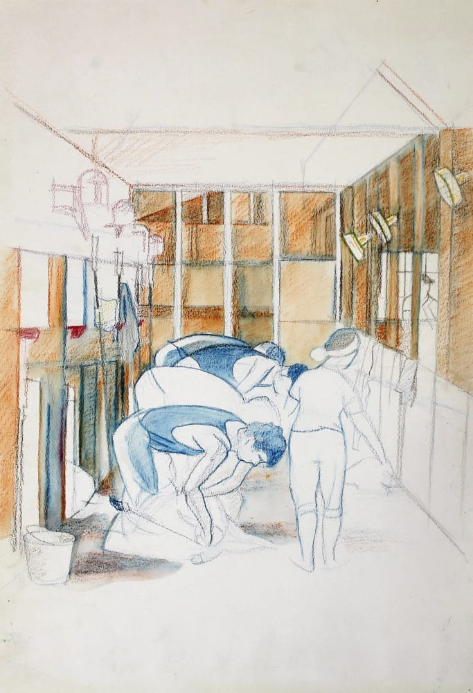 Shearing Scene, Takapau