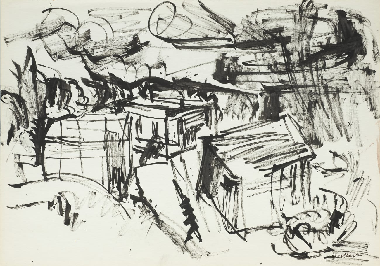Landscape with Sheds and Houses