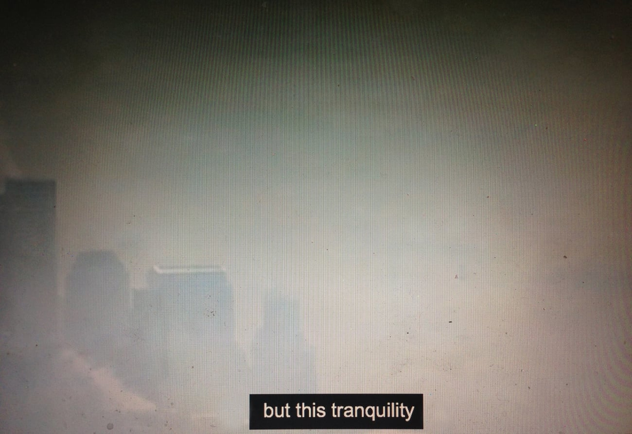 But this tranquility