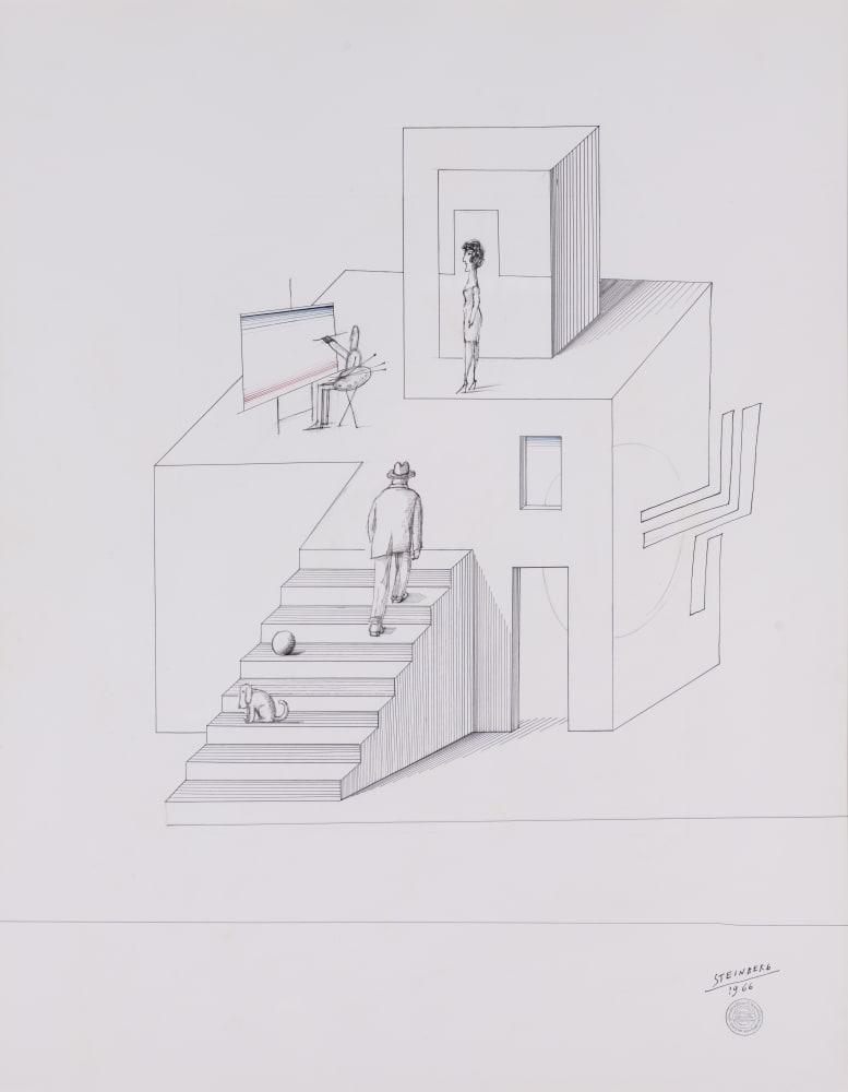 Saul Steinberg Architecture, 1966