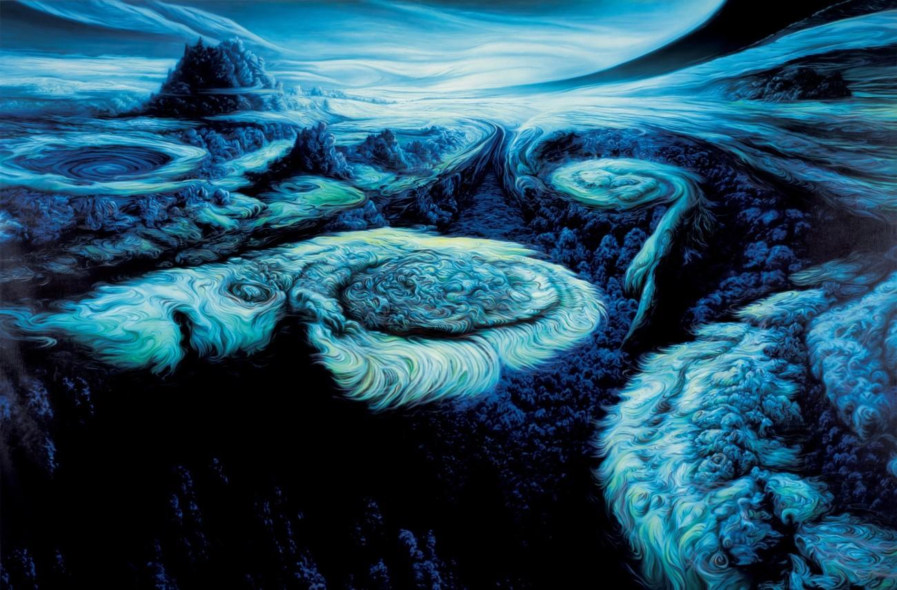 """The Ever Popular Dead (after """"Jupiter Cloudscape"""" 1982 by Adolf Schaller)"""