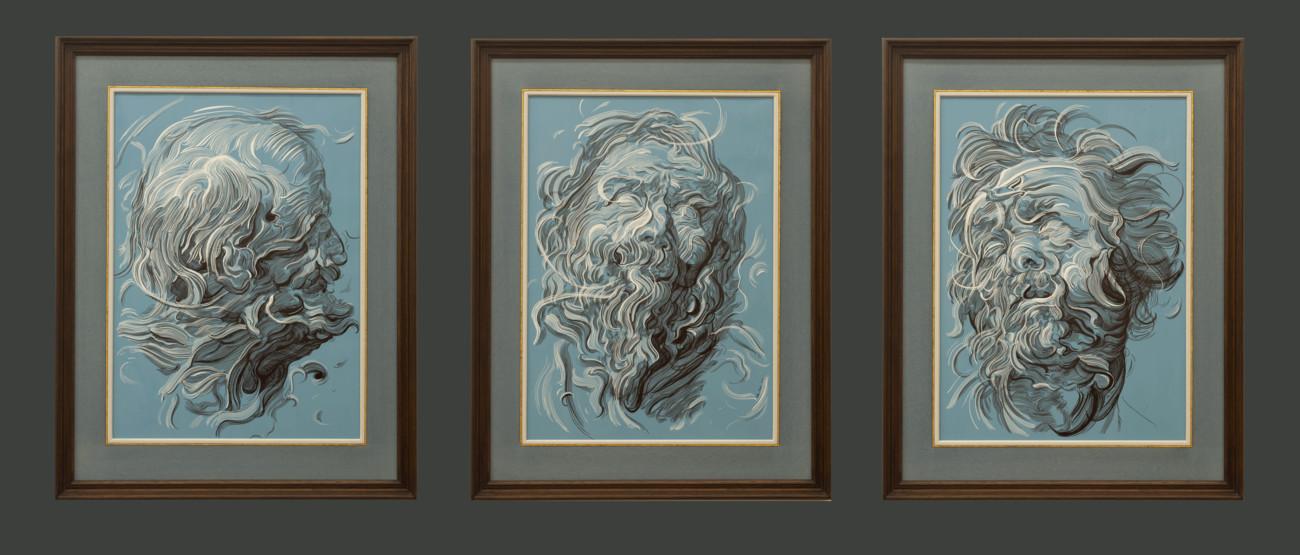 Drawing 6 (after Del Sarto/Raphael/Van Dyck)