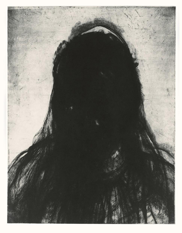 Layered Portrait (after Urs Graf) 4