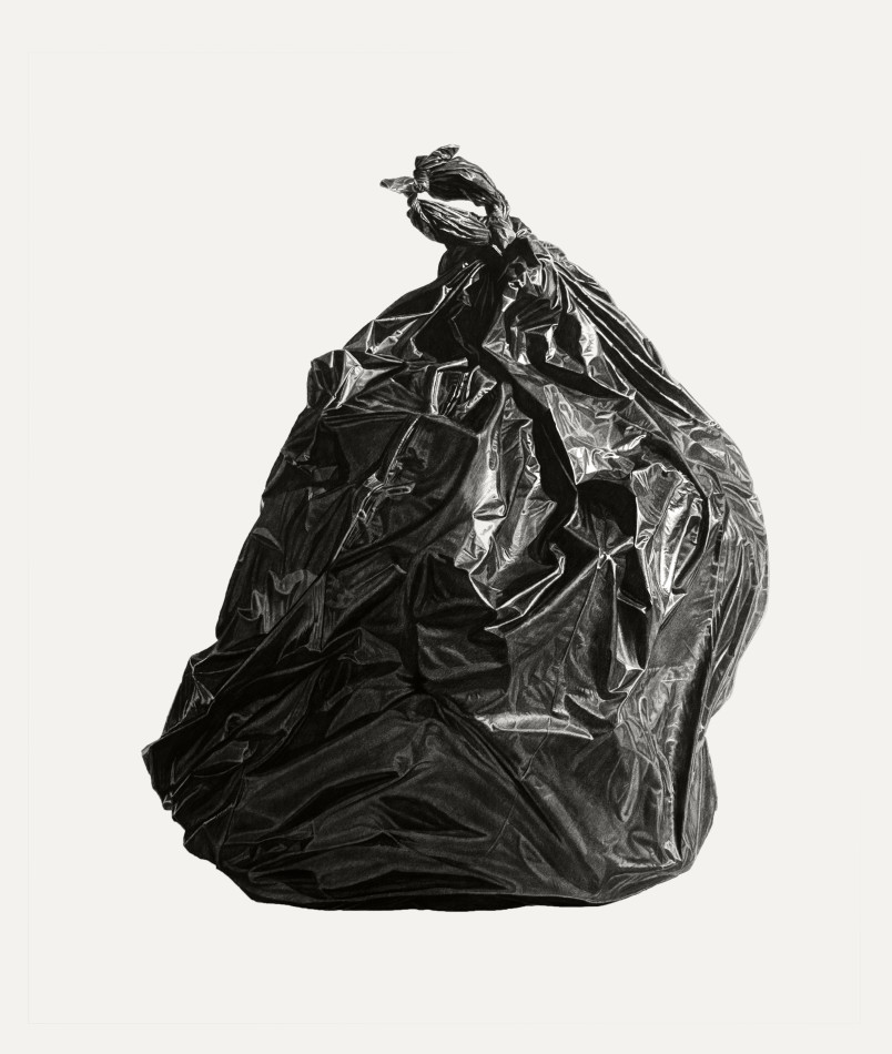 Neighborhood Still Life 6 (Black Bag)